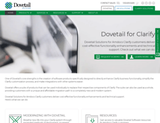 clarify.dovetailsoftware.com screenshot