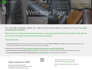 clarinetpages.net screenshot