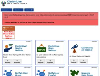 clarionlive.com screenshot