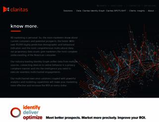 claritas.com screenshot