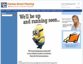 clarkesdirectflooring.co.uk screenshot