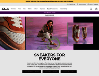 clarks.co.uk screenshot
