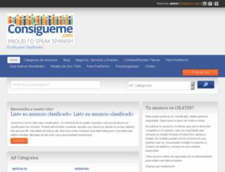 clasificados.consigueme.com screenshot