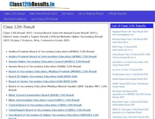 class12thresults.in screenshot
