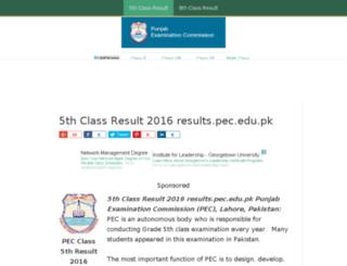 class5thresult.com screenshot