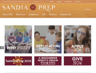 classes.sandiaprep.org screenshot