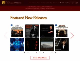 classicalarchives.com screenshot