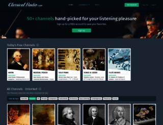 classicalradio.com screenshot