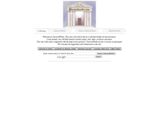 classicalworks.com screenshot
