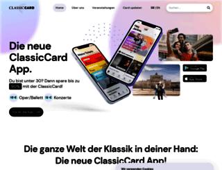 classiccard.de screenshot