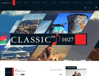 classicfm.co.za screenshot