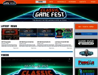classicgamefest.com screenshot