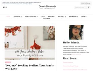 classichousewife.com screenshot
