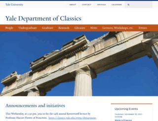 classics.yale.edu screenshot