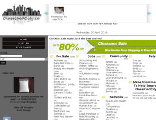 classifiedcity.ca screenshot