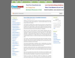 classiment.wordpress.com screenshot