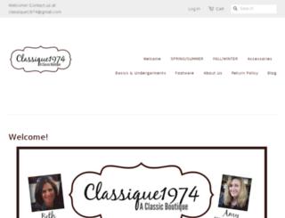 classique1974.myshopify.com screenshot