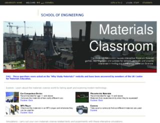 classroom.materials.ac.uk screenshot