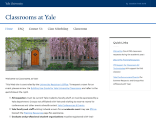 classrooms.yale.edu screenshot