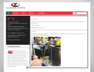 claudelyons.co.uk screenshot