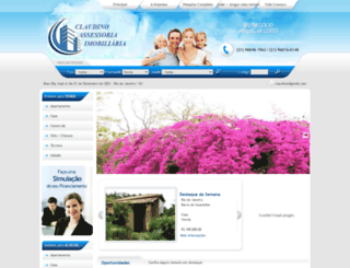 claudinoimoveis.com screenshot