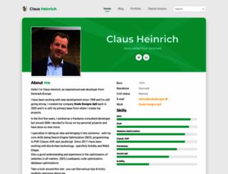 clausheinrich.com screenshot
