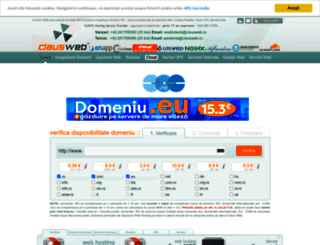 clausweb.ro screenshot