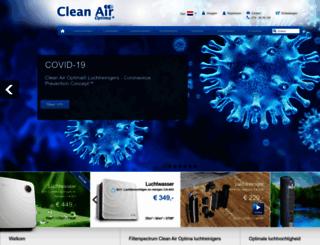 cleanair-online.nl screenshot