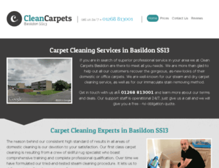 cleancarpetsbasildon.co.uk screenshot