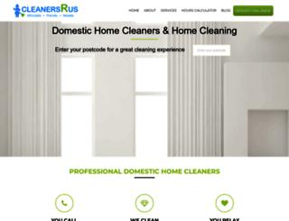 cleanersrus.co.uk screenshot