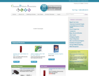 cleaningproductsassociates.com screenshot