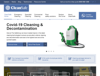 cleansafeservices.co.uk screenshot