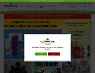 clearance-king.co.uk screenshot