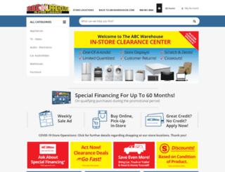clearance.abcwarehouse.com screenshot