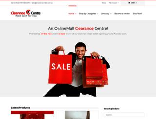 clearancecentre.com.au screenshot