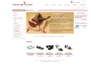 clearancefootwear.co.uk screenshot