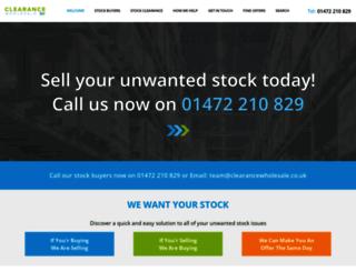 clearancewholesale.co.uk screenshot