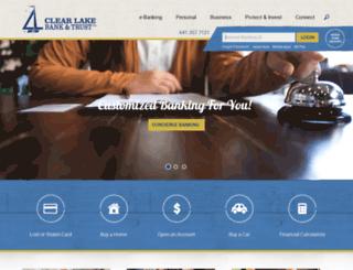 clearlakebank.com screenshot
