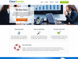 clearsender.com screenshot