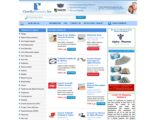 clearskypharmacy.biz screenshot