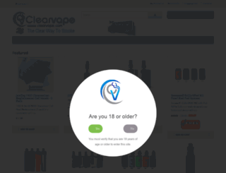 clearvape.com screenshot