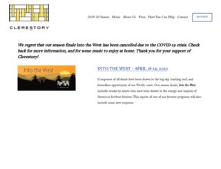 clerestory.org screenshot