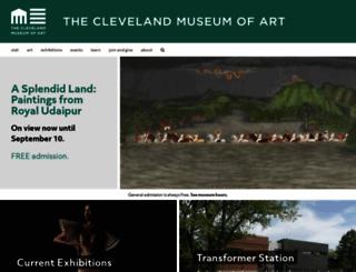 clevelandart.org screenshot