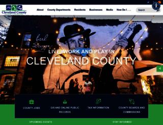clevelandcounty.com screenshot