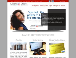 clevelandstatebank.com screenshot