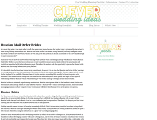 cleverweddingideas.com screenshot