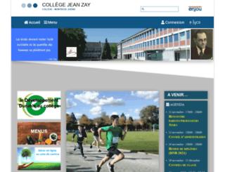 clg-zay-49.ac-nantes.fr screenshot