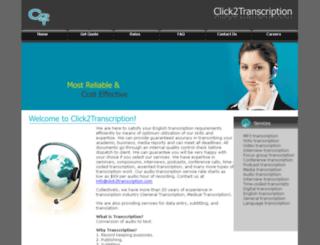 click2transcription.com screenshot