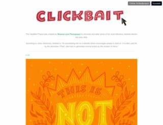 clickbaitproject.com screenshot