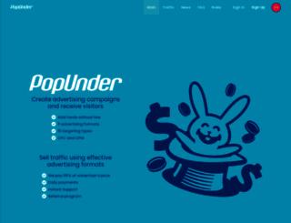 clickunder.net screenshot